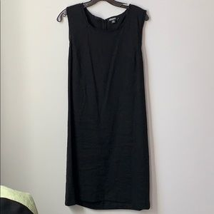 Donna Karan New York Black Linen Blend Dress 12